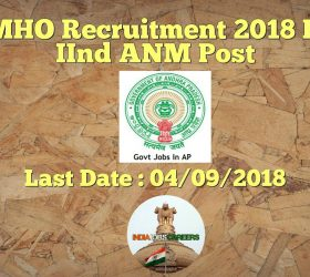 DMHO Kurnool Recruitment 2018 – Application Form ANM 79 Posts