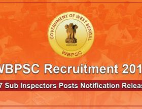 WBPSC Sub Inspector Recruitment 2018