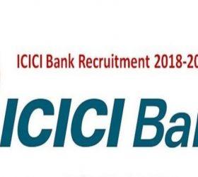 ICICI Bank Recruitment 2019